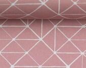 Cotton Kurt, old pink, triangles, geometric pattern