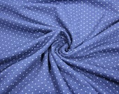 Double-face, quilted sweat, blue, dotted and striped