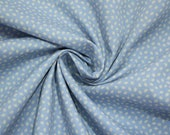 Cotton, light blue, white leaves