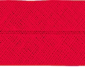 VENO cotton slanted ribbon, light red, folded 40/20, width 2 cm, pre-folded from 4 cm to 2 cm