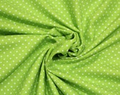 Cotton, kiwi green dotted, dots 2 mm