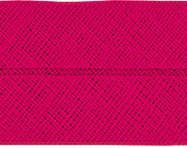 VENO cotton slanted ribbon, pink, folded 40/20, width 2 cm, pre-folded from 4 cm to 2 cm
