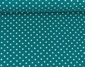Jersey, Verena 748 petrol, white dots 3 mm