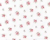 Cotton, Westphalian Fabrics, Princess, White, Red Flowered, Roses