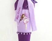 "School bag ""Mia Louise"" made of Fabric girl, Sugar Bag"