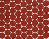 Cotton, white, dots terracotta 5 cm, Doro