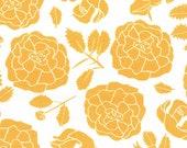 Westfalenstoffe, Cotton, Capri, Mainau, white-yellow, Bumen