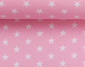 Cotton, Carrie 431, Light Pink, White Stars