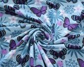 Jersey, light blue, purple, butterflies