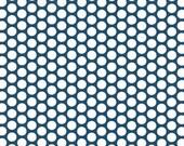 Cotton, Westphaliafabrics, Copenhagen, jeans blue-white, dots