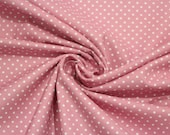 Cotton, old pink dotted, dots 2 mm