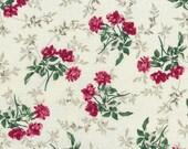 Cotton, Westphalian fabrics, Trondheim, beige roses