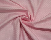 Cotton, light pink dotted, dots 2 mm