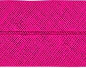 VENO cotton slanted ribbon, light pink, folded 40/20, width 2 cm, pre-folded from 4 cm to 2 cm