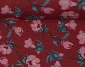 Jersey, red, pink flowers, Bienvenido colorido