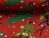 Sweat, Merry Christmas, Red, Reindeer, Fir Tree