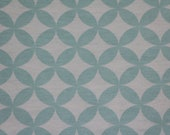 Jersey, white, mint, geometric patterned, flowers