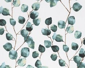 Decorative fabric, canvas, Emma linen look, eucalyptus