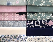Cotton, fabric package, westphalian fabrics, patchwork, paper cuts