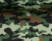 Cotton Kim, camouflage, green, khaki, brown