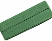Jersey inclined band, pale green, width 2 cm, pre-folded from 4 cm to 2 cm, length: 3 m
