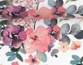 Jersey, Jonne, white, flowers, watercolour