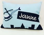 """Cushion """"Janne"""", name cushion, cuddly pillow"""
