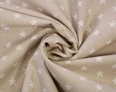 Cotton, beige, white stars
