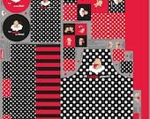 Canvas, Panel, Steinbeck happy kitchen, red-black