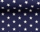 Cotton, Carrie 597, dark blue, white stars, 1 cm