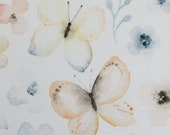 Jersey, Theo, natural white, butterflies blue-yellow
