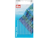 Prym stuffing needles short 10pieces, ST 1-9 silver/gold coloured