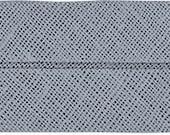 VENO cotton slanted ribbon, light grey, folded 40/20, width 2 cm, pre-folded from 4 cm to 2 cm