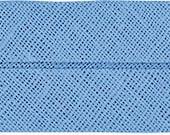 VENO cotton slanted ribbon, smoke blue, folded 40/20, width 2 cm, pre-folded from 4 cm to 2 cm