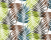 Jersey, white, leaf fern leaves, green, brown, earth tones