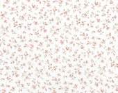 Cotton, Westphalian fabrics, Nottingham, white/old pink flowers