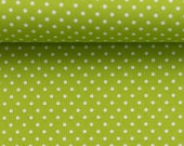 Cotton Judith 602, kiwi green dotted, dotted 2 mm