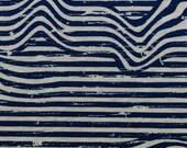 Jersey, Benno, natural/beige mottled, jeans blue, stripes