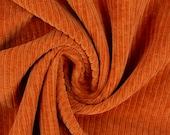 Corduroy, Juna, Stretchcord, Nicky, terracotta-orange