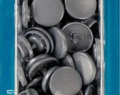 """Prym sewing-free snaps """"Color Snaps"""", round, 12.4 mm, silver grey, grey"""
