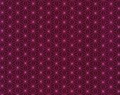 Cotton, Westphalian fabrics, Copenhagen, berry, stars graphic pink
