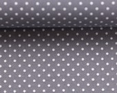 Cotton Judith 183, grey dotted, dotted 2 mm