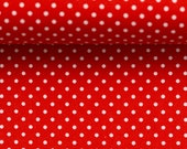 Cotton, Judith 637, red dotted, dots 2 mm