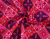 Decorative Fabric, Canvas, Pink, Floral Pattern, Square