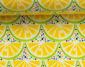 Jersey, sun and lemon, yellow, lemon slices, dots