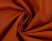 Cotton, heath 712, uni rust/terracotta