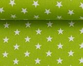 Cotton, Carrie 602, light green, white stars