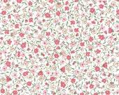 Cotton, Westphalian Fabrics Renforcé, Millefleurs , Coral Flowered