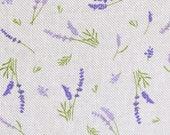 Decorative fabric, canvas, Emma linen look, lavender