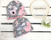 Cap, beanie with bow in your desired size
